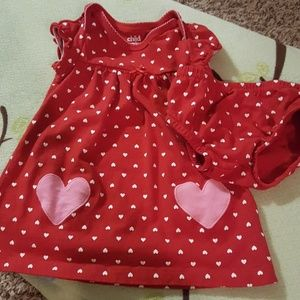 Red white and pink hearts